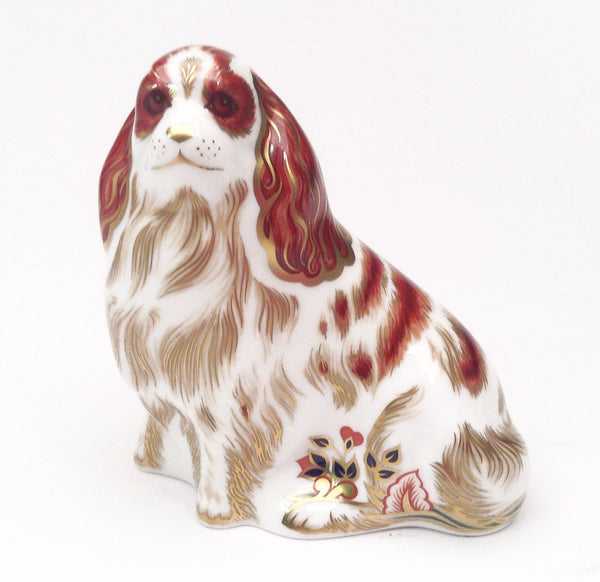 Royal Crown Derby Cavalier King Charles Spaniel Paperweight