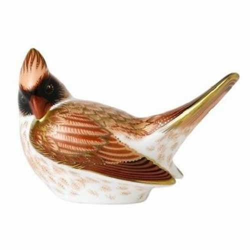 Royal Crown Derby Female Cardinal Paperweight