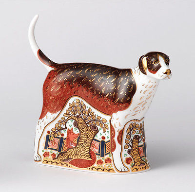 Royal Crown Derby Foxhound Paperweight