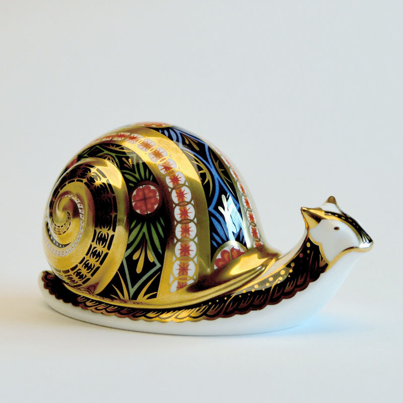 Royal Crown Derby Garden Snail Paperweight