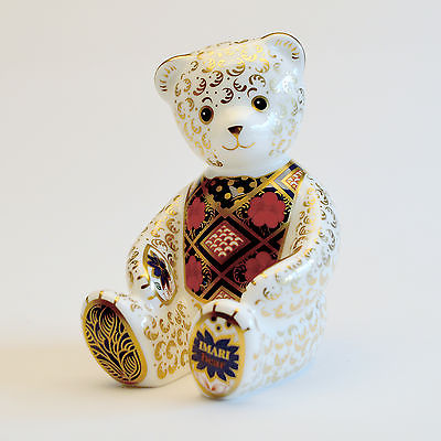 Royal Crown Derby Imari Bear Paperweight