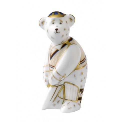 Royal Crown Derby Miniature Cricketer Bear