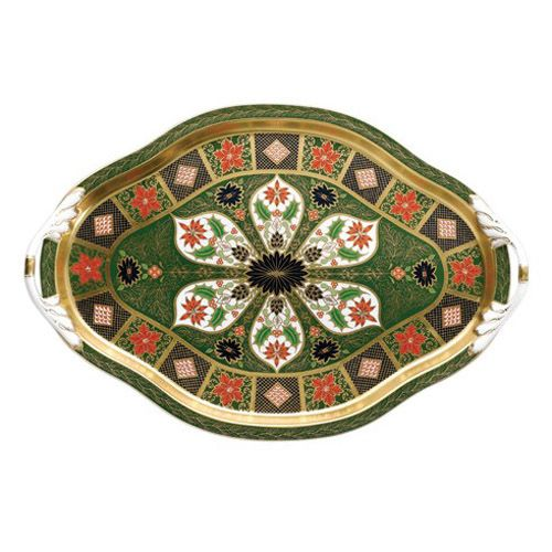 Royal Crown Derby Old Imari Holiday Hartington Tray