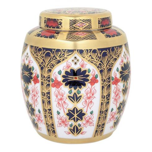 Royal Crown Derby Old Imari Solid Gold Band Ginger Jar S/S