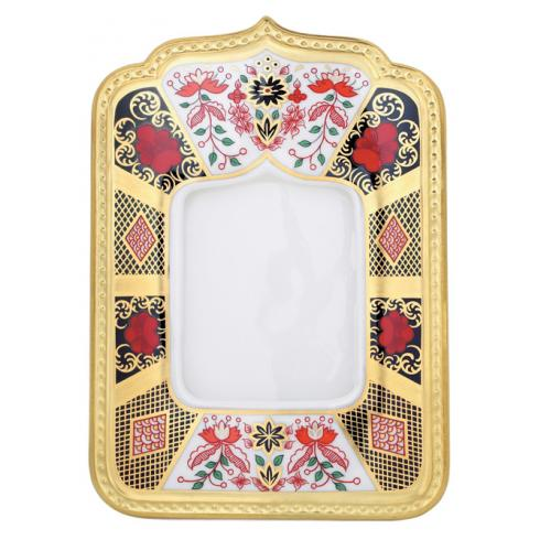 Royal Crown Derby Old Imari Solid Gold Band Photograph Frame