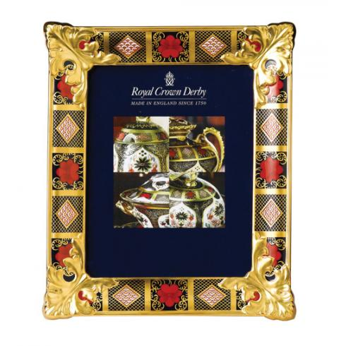 Royal Crown Derby Old Imari Solid Gold Band Picture Frame L/S