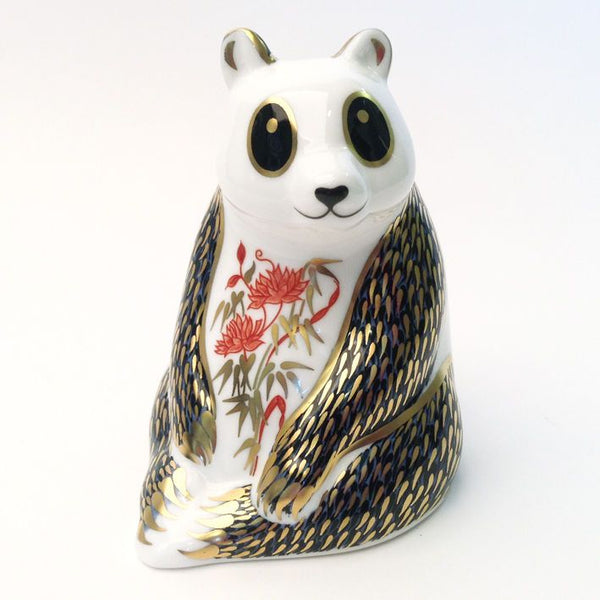 Royal Crown Derby Panda Paperweight