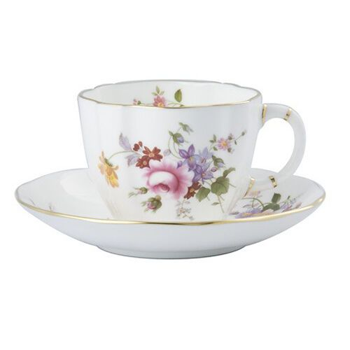 Royal Crown Derby Posie Tea Cup & Tea Saucer