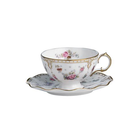 Royal Crown Derby Royal Antoinette Tea Cup & Saucer