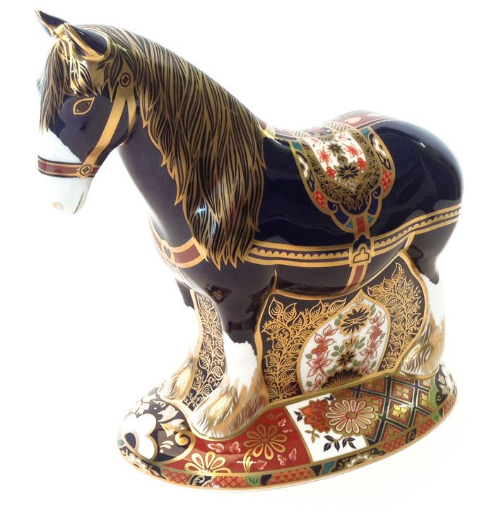 Royal Crown Derby Shirehorse Paperweight - Limited Edition of 1500 (no box)