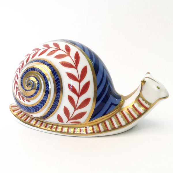 Royal Crown Derby Snail Paperweight