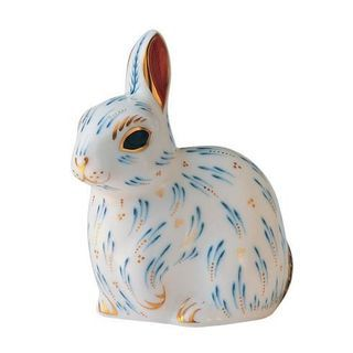 Royal Crown Derby Snowy Rabbit Paperweight