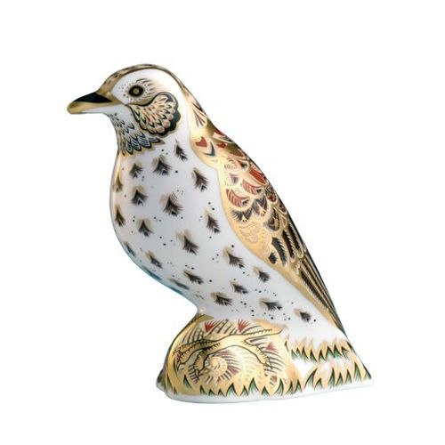 Royal Crown Derby Song Thrush Paperweight
