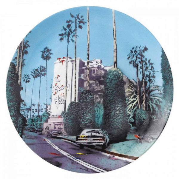 Royal Doulton Street Art Plate - The Morning After Beverley Hills by Nick Walker (Limited Edition of 2000)