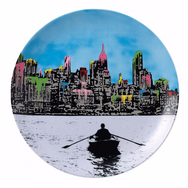 Royal Doulton Street Art Plate - The Morning After New York by Nick Walker (Limited Edition 2000)