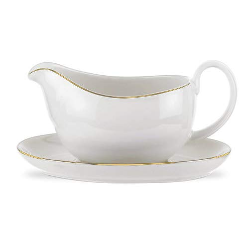 Royal Worcester Classic Gold Sauce Boat and Stand 0.4ltr/14oz