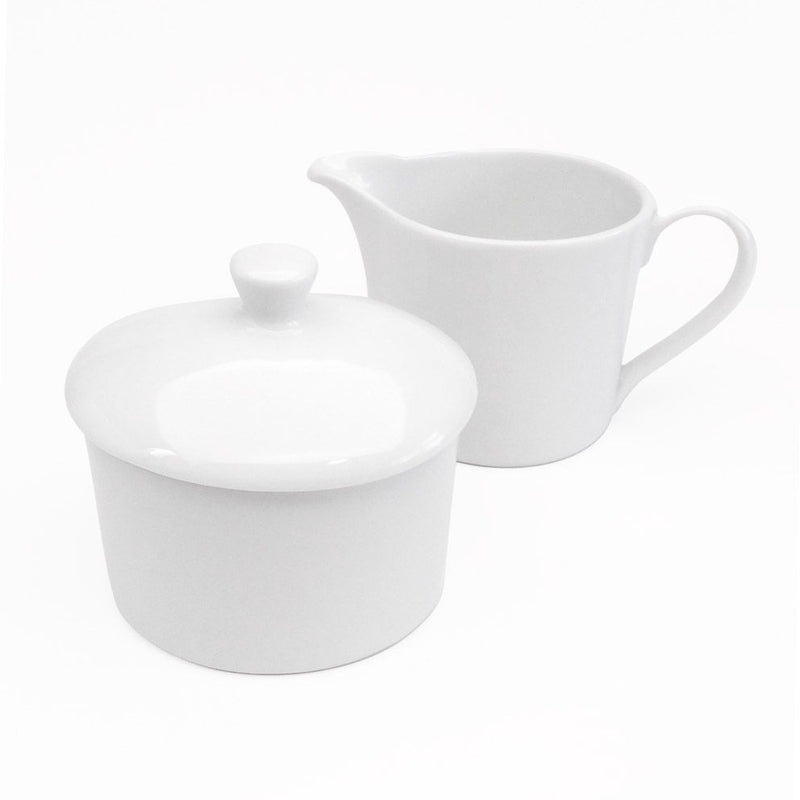 Royal Worcester Classic White Covered Sugar & Cream Jug Set