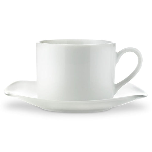 Royal Worcester Classic White Tea Cup & Sqaure Saucer
