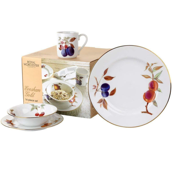Royal Worcester Evesham Gold 16 Piece Set