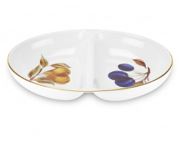 Royal Worcester Evesham Gold Divided Dish
