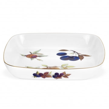 Royal Worcester Evesham Gold Square Dish