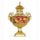 Royal Worcester Painted Fruit Covered Vase (1572) 26.5cm