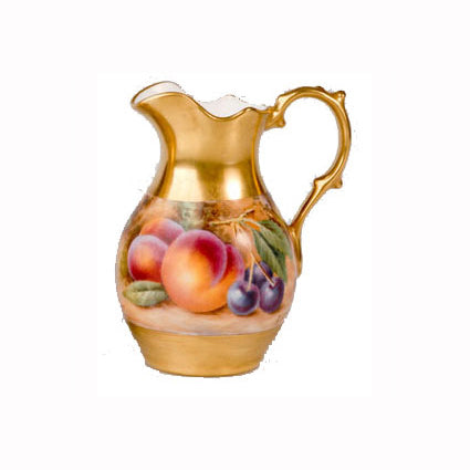 Royal Worcester Painted Fruit Mini Ewer 10.5 cm - Sinclairs Exclusive