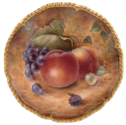 Royal Worcester Painted Fruit Plate 20cm