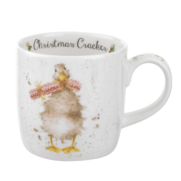 Royal Worcester Wrendale Designs Christmas Cracker Mug