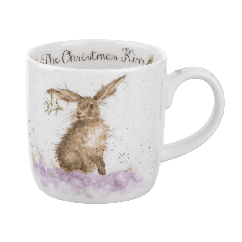 Royal Worcester Wrendale Designs Christmas with a Kiss Mug