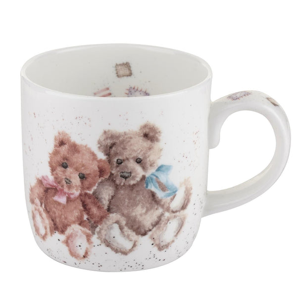 Royal Worcester Wrendale Designs Vintage Bears Mug Charlie and Rose