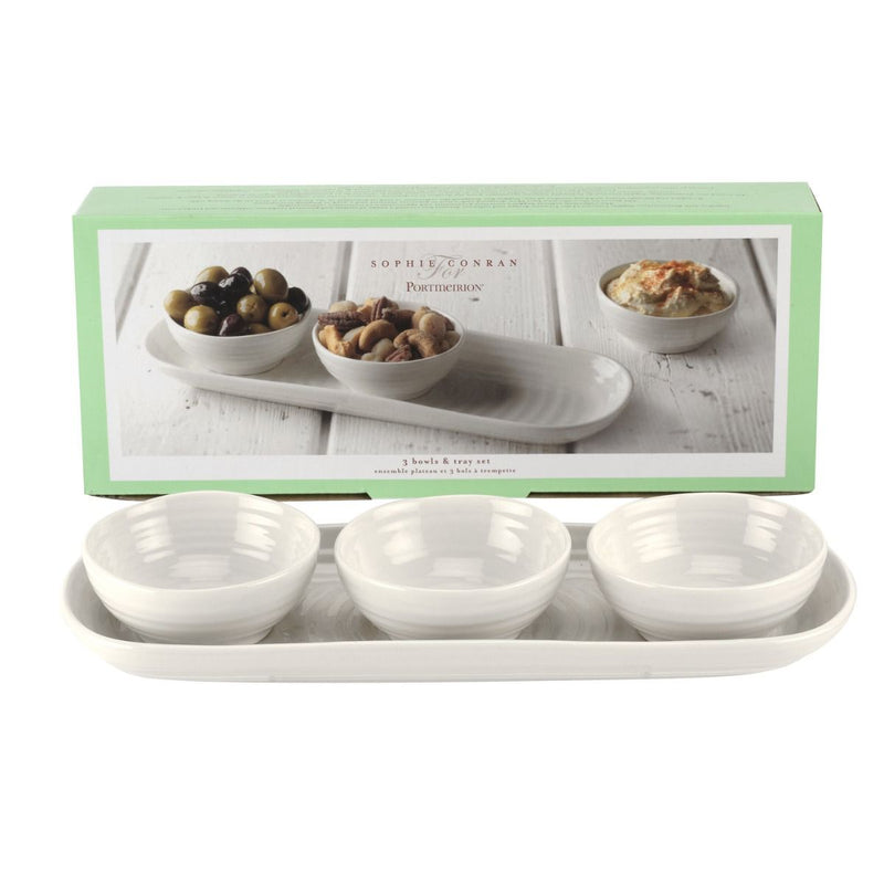 Sophie Conran for Portmeirion 3 Bowl & Tray Set