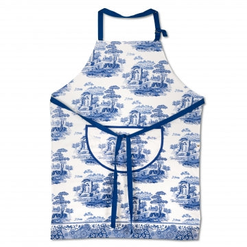 Spode Blue Italian Cotton Drill Apron