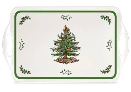 Spode Christmas Tree Melamine Large Serving Tray With Handles