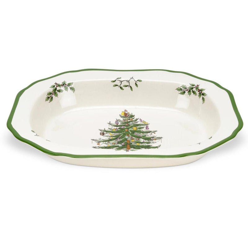 Spode Christmas Tree Open Vegetable Dish 29cm