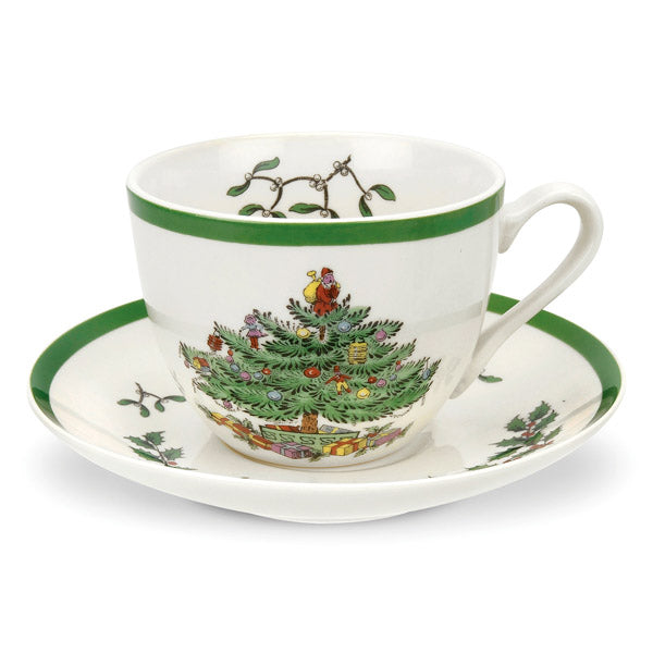 Spode Christmas Tree Teacup & Saucer