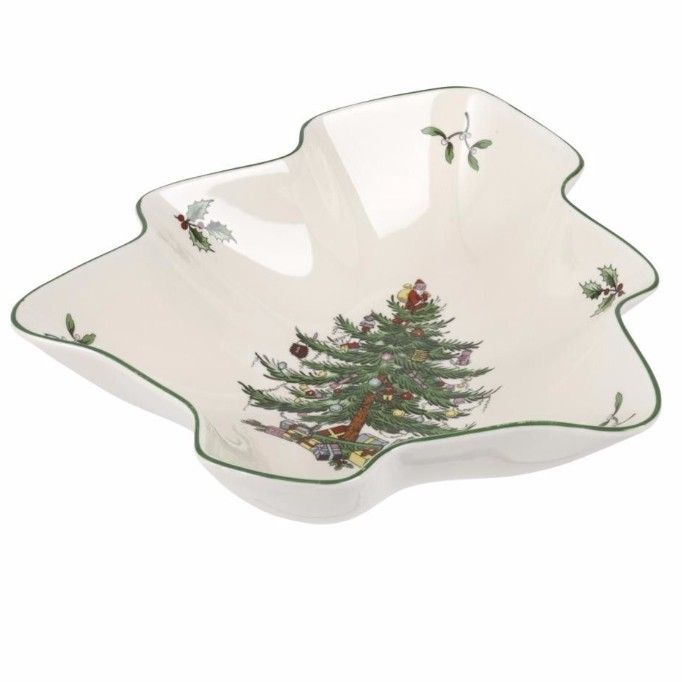 Spode Christmas Tree Tree Shaped Dish 8""