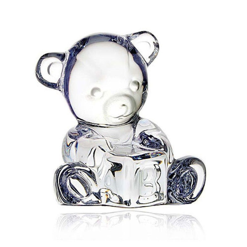Waterford Crystal Giftology Baby Bear With Block
