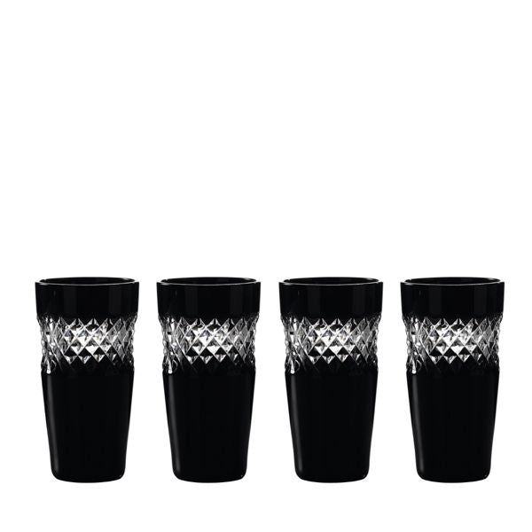 Waterford Crystal John Rocha Black Cut Shot Glass Set of 4
