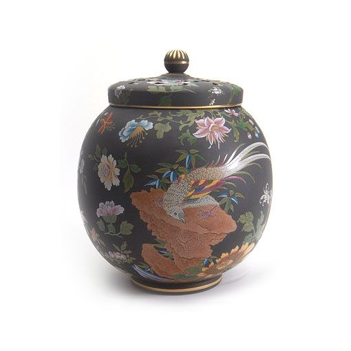 Wedgwood Handpainted Pot Pourri Pot