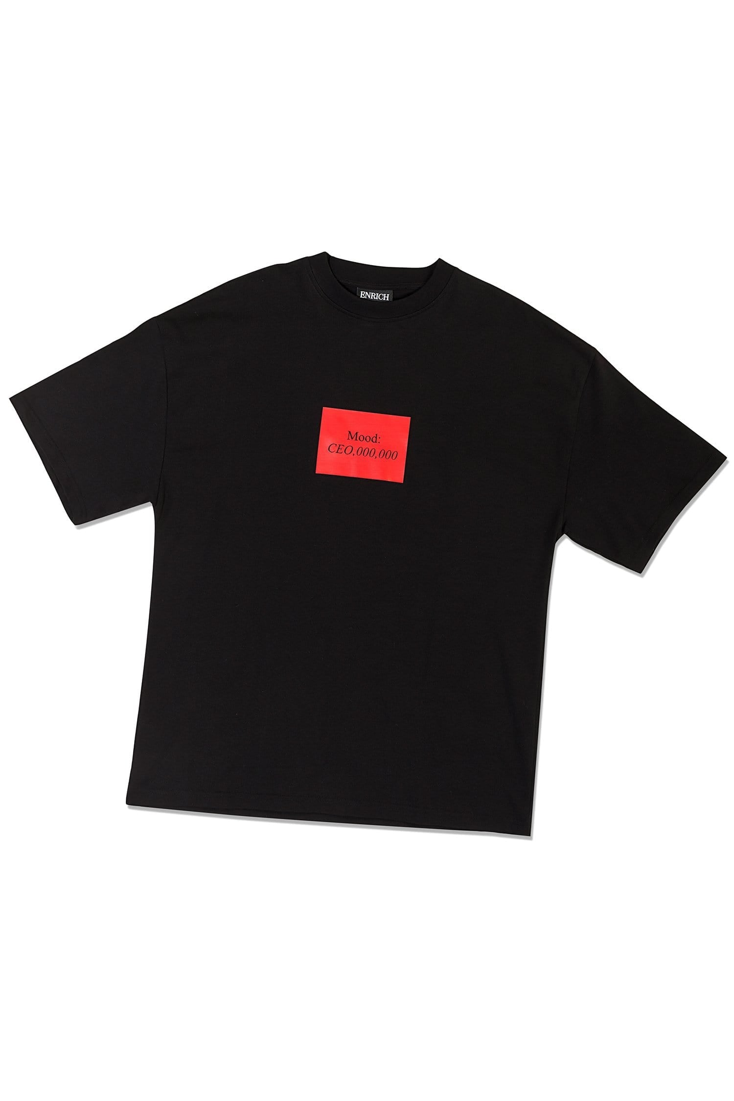 Unisex Black Tee - Mood CEO Slogan Square