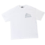 White T-Shirt With Reflective 3D Logo