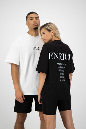 Unisex Black Tee - Cities