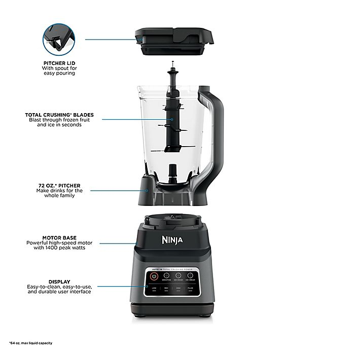Professional Plus Blender with Auto-iQ in Black