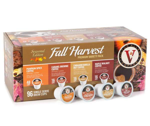 Victor Allen 96-Count Fall Harvest Single Serve Brew Cups Premium Variety Pack