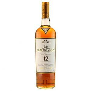 Bottle of Macallan 12 year scotch.