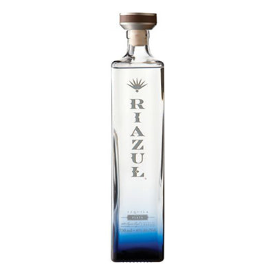 Bottle of Riazul Blanco tequila.