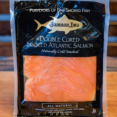8 oz package of smoked salmon.