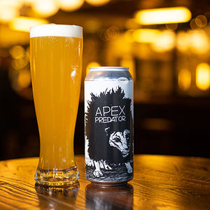 Can of Off Color Apex Predator Farmhouse Ale.
