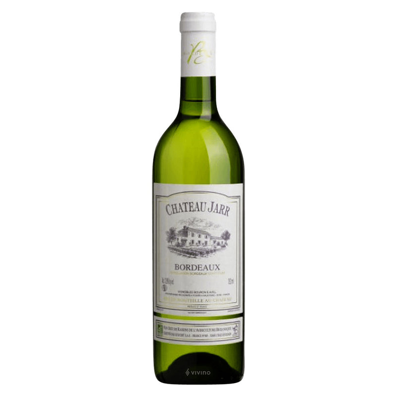 Bottle of bordeaux blanc wine.